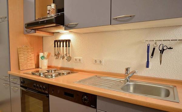 Einbauküche, komplett eingerichtet, Ferienwohnung 1 - Gästehaus Altstadt, Neustadt / Weinstr.
