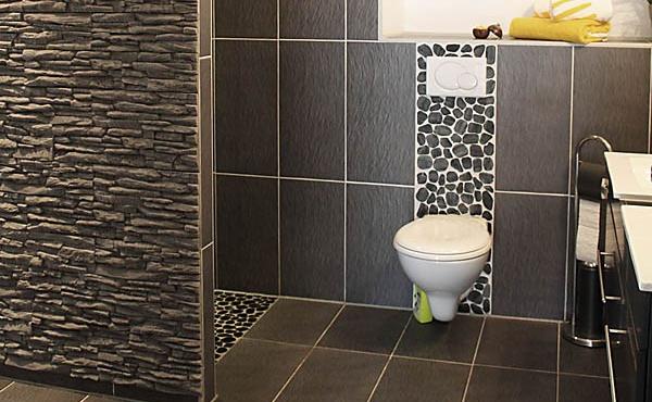 Bad mit stufenloser Dusche und WC, Apartment Weinberg - Urlaubsdomizil Haardter Sonne, Neustadt / Weinstr. (Pfalz)