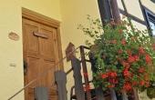 Separate Eingangstür - Ferienwohnung Silvaner, Ferienhaus Winzerhof, Weindorf Haardt, Neustadt / Weinstraße (Pfalz)