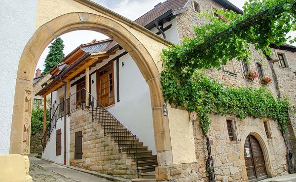 Eingang zum Ferienhaus - Ferienwohnung Biengarten, Weingut Thomas Steigelmann, Gimmeldingen (Pfalz), Neustadt / Weinstr.