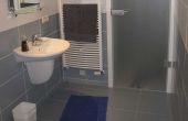 Badezimmer mit Dusche / WC - Ferienwohnung Haus Biengarten, Weindorf Gimmeldingen, Neustadt / Weinstr. (Pfalz)