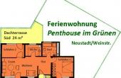 Grundriss der Ferienwohnung - Fewo Penthous im Grünen, Gimmeldingen / Königsbach, Neustadt / Weinstr. (Pfalz)